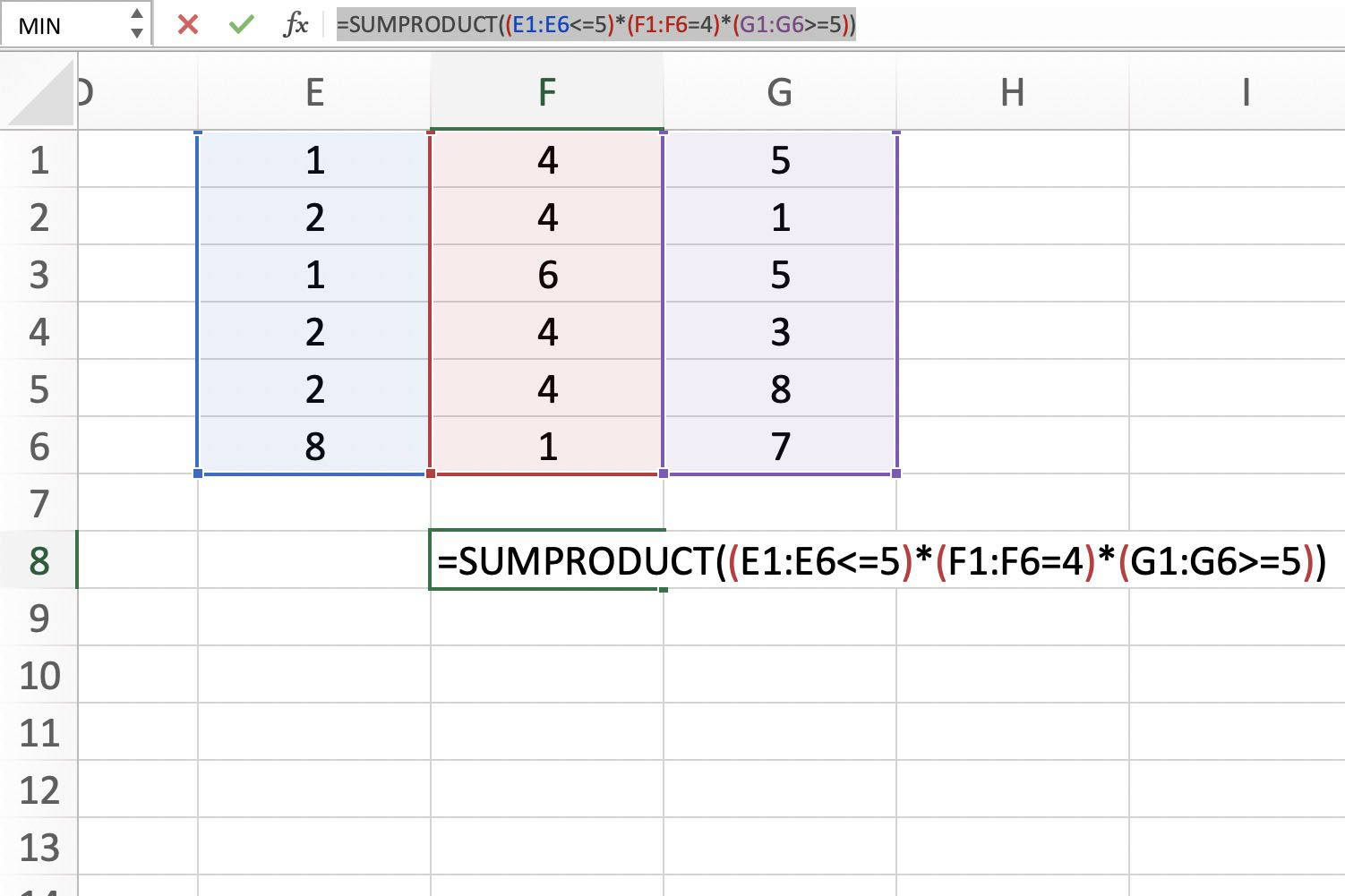 Excel's SUMPRODUCT Function to Count Multiple Criteria