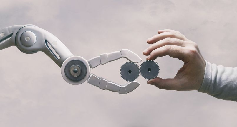 Robot and human working together