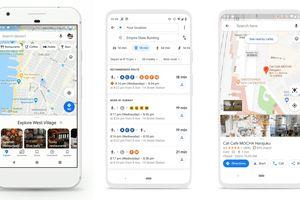 Three new Google Maps screens