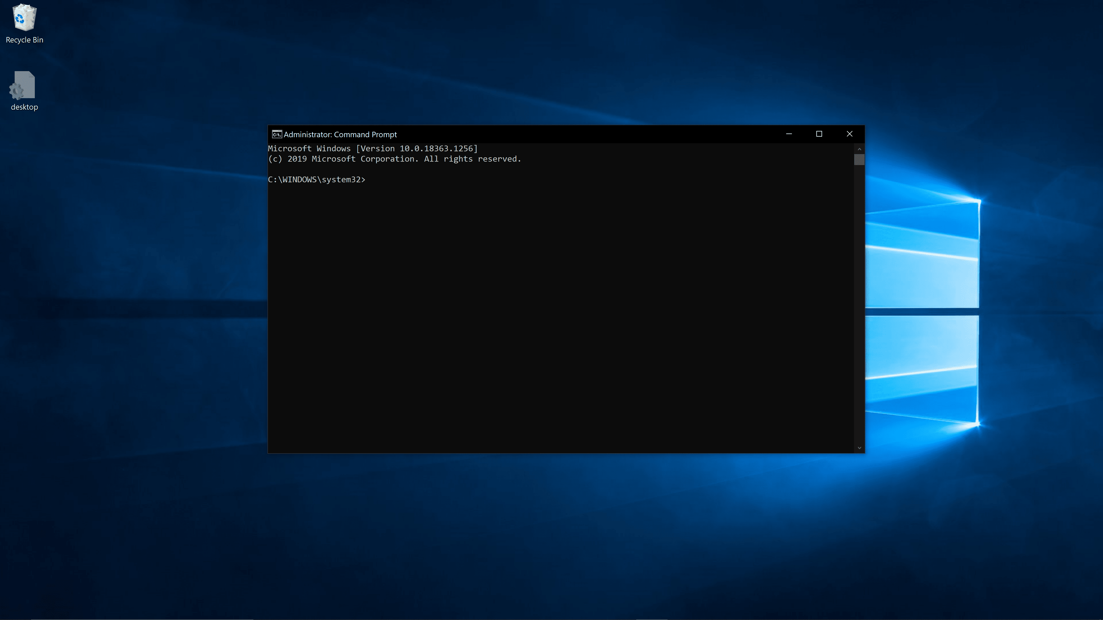 Flushing DNS using the Command Prompt.