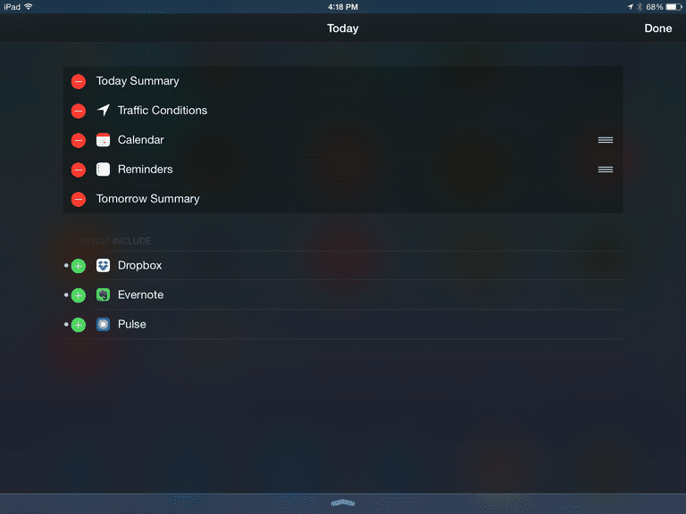 ipad widgets screenshot