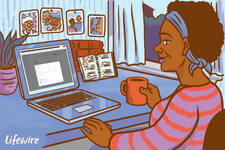 Illustration of a person adding contacts to their Gmail account