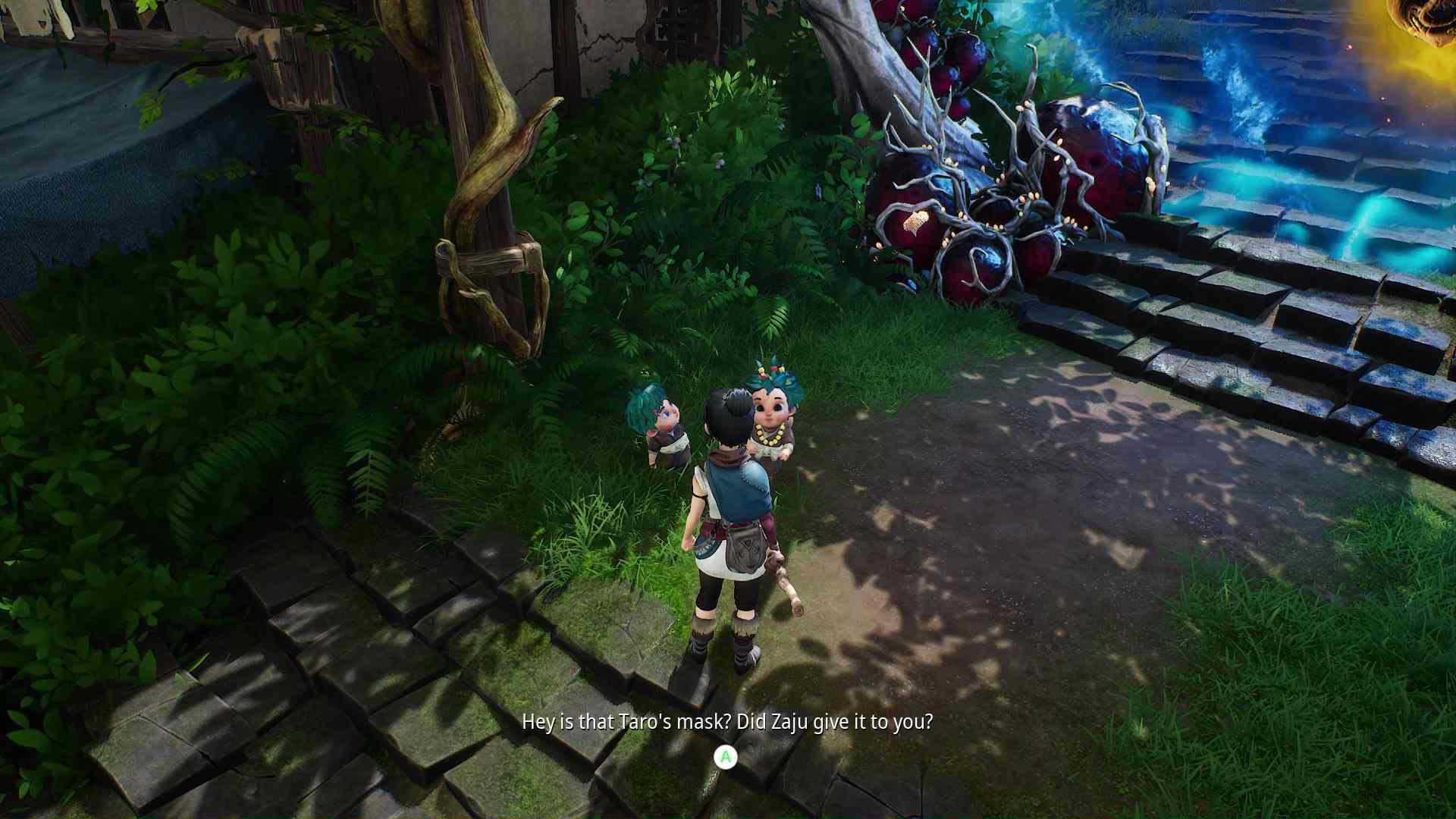 A screenshot from 'Kena: Bridge of Spirits'