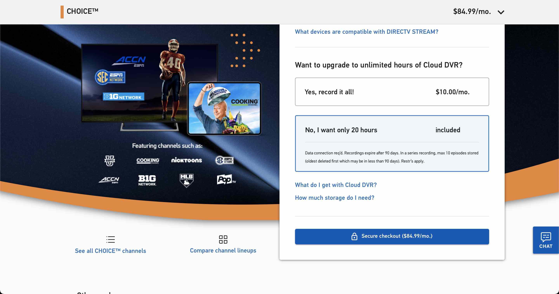 Options for DirecTV Stream
