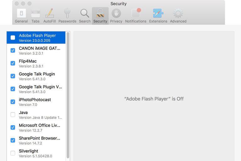 Safari Preferences screenshot