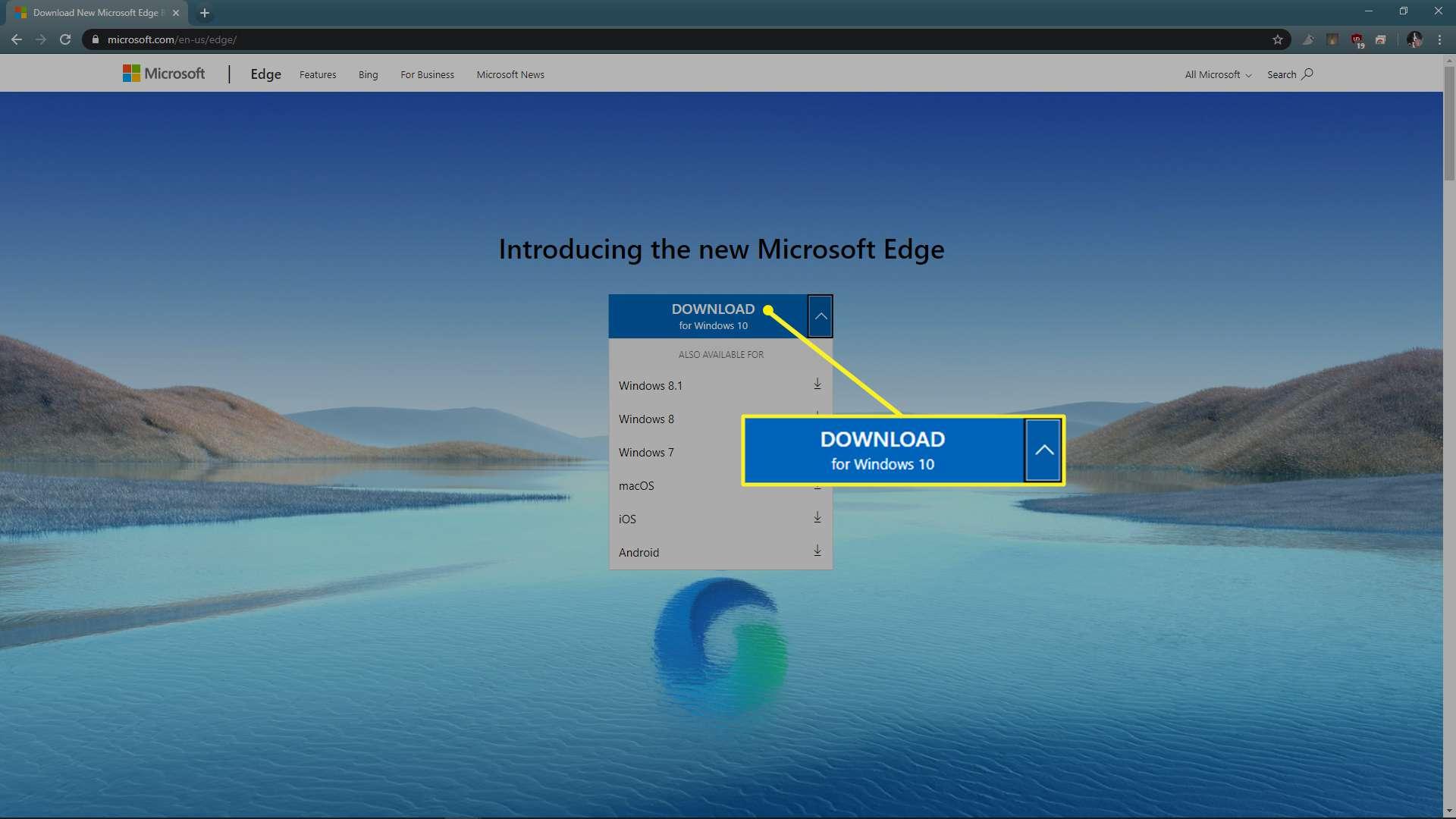 Chromium Edge available versions