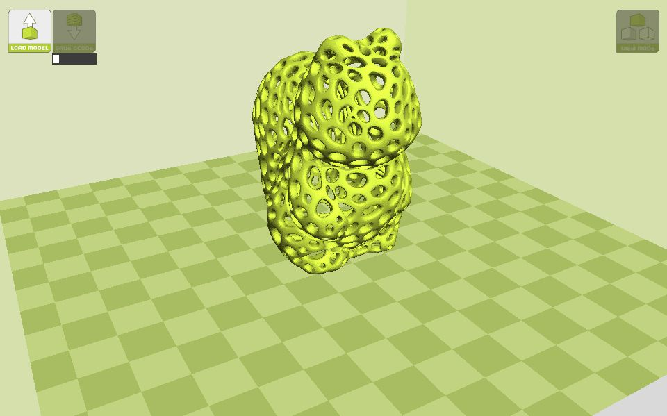 A 3d image of a squirrel in a Voronoi pattern.