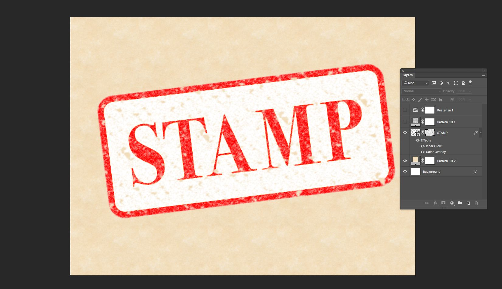 create grunge or rubber stamp text effect in photoshop