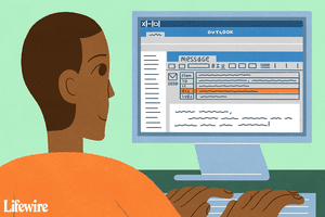 Illustration of a person adding recipients to the BCC field in Outlook