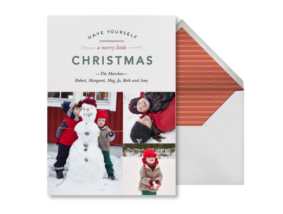Wintry Tune Christmas e-card