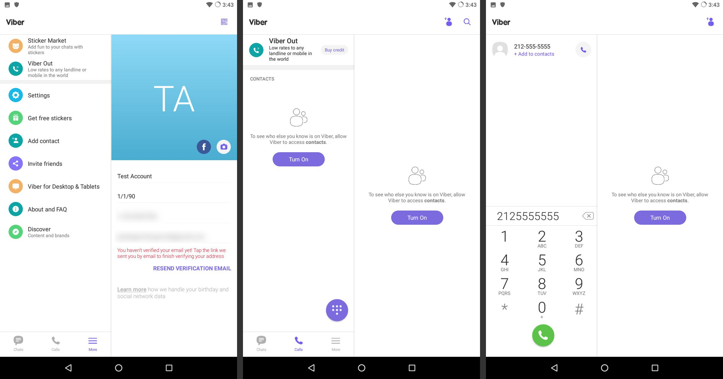 Using Viber on Android