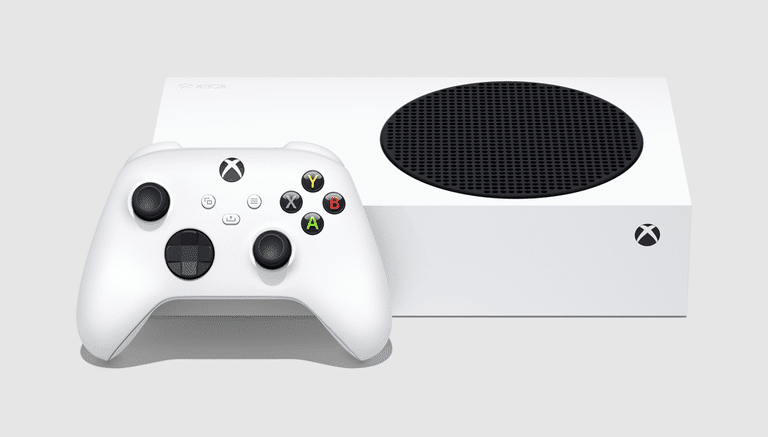 The Xbox Series S controller and console.