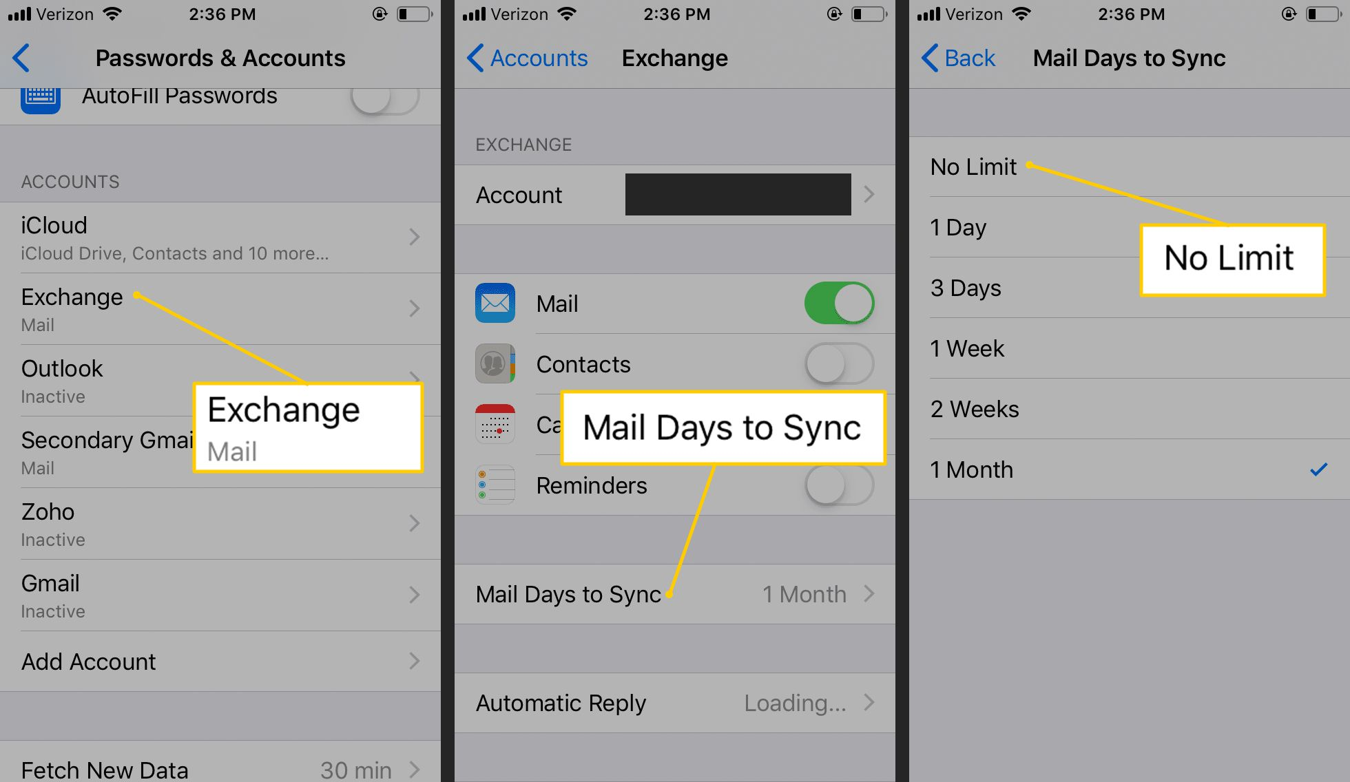 How to Sync More Emails in Exchange Accounts for iPhone