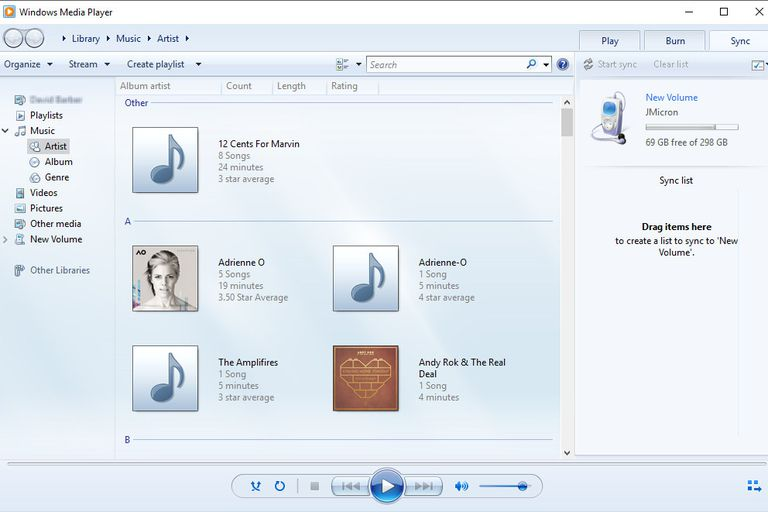Sync Media Files in Windows Media Player