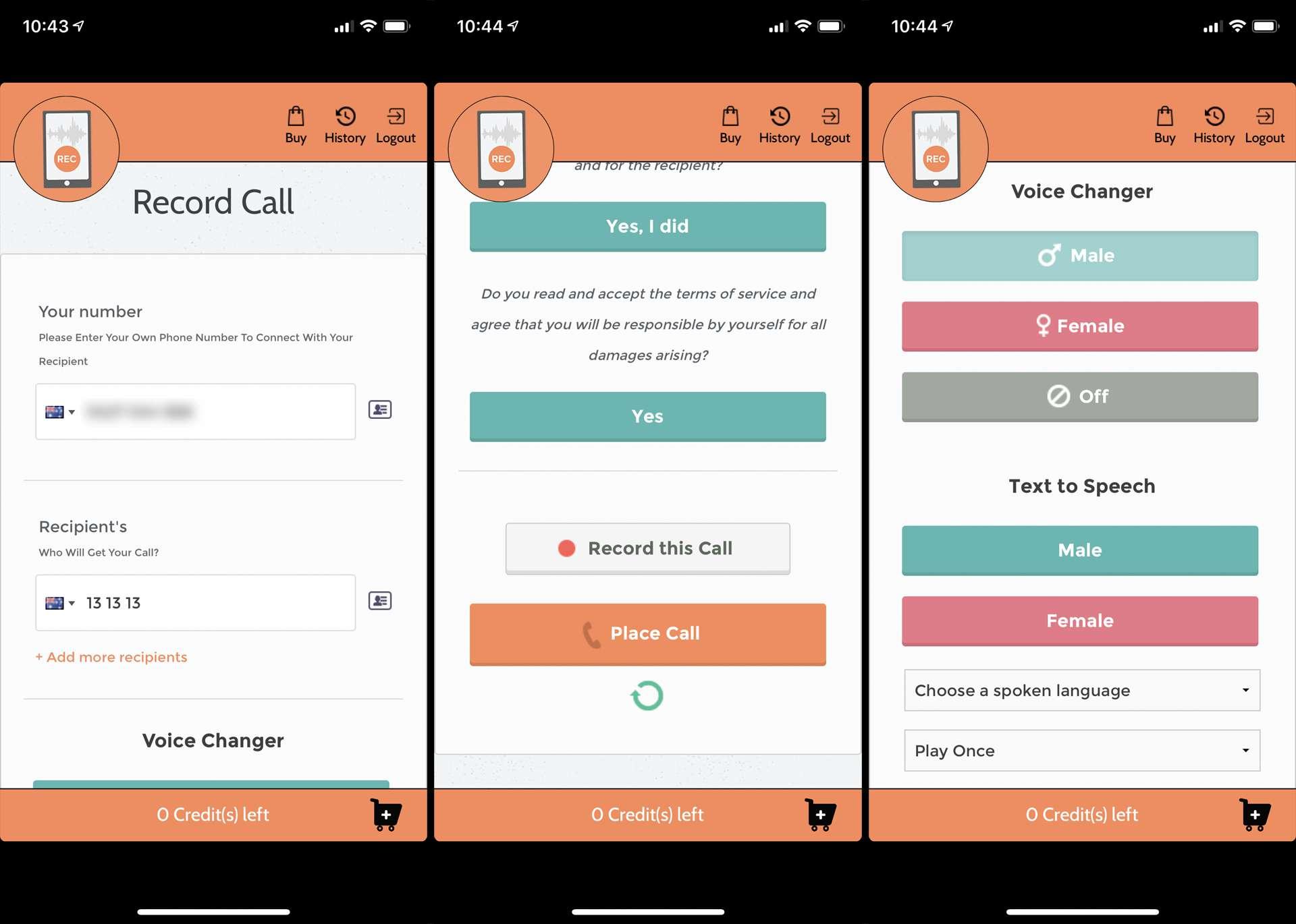 Record Calls+ iPhone app