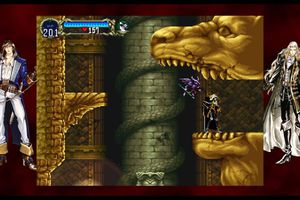 Alucard and his demon familiar in Castlevania: Symphony of the Night for PS4.