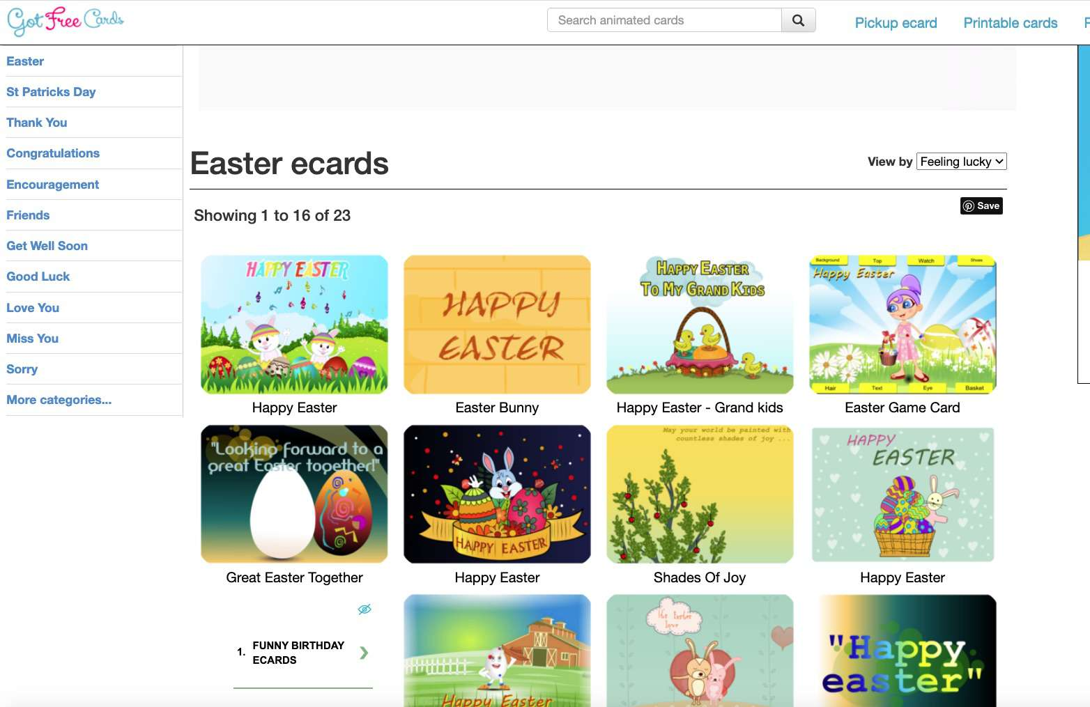 Got Free Cards free Easter Ecards
