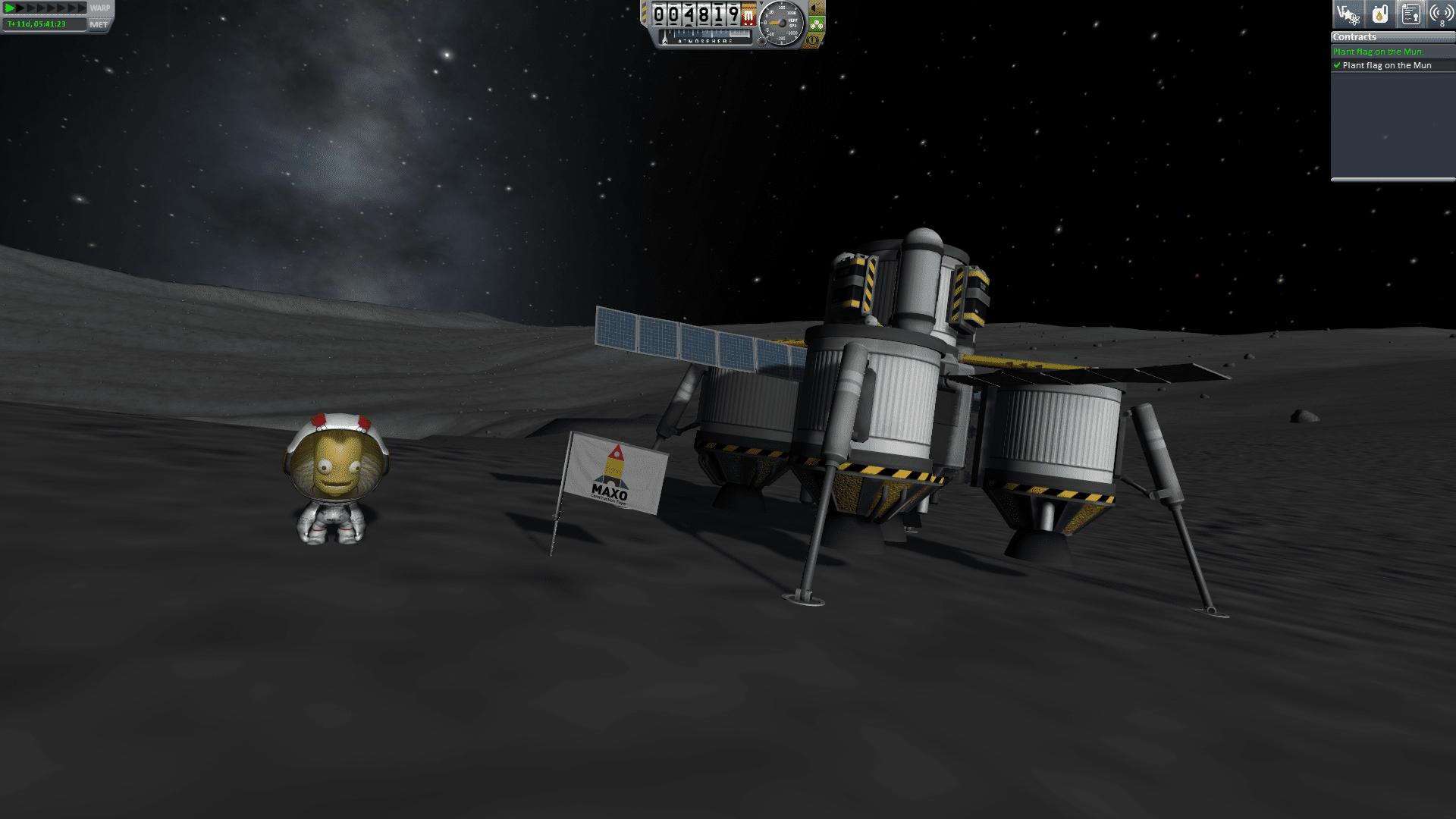 land on the mun kerbal space program