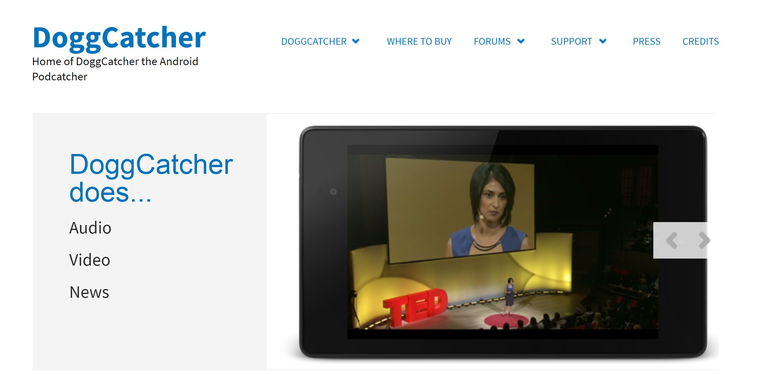 PC screenshot of DaggCatcher website with video playing on a smarphone