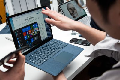 laptop computer with the Start menu showing