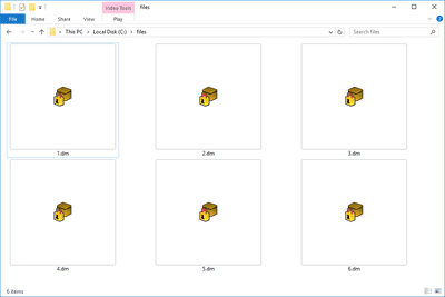 DM files in a folder