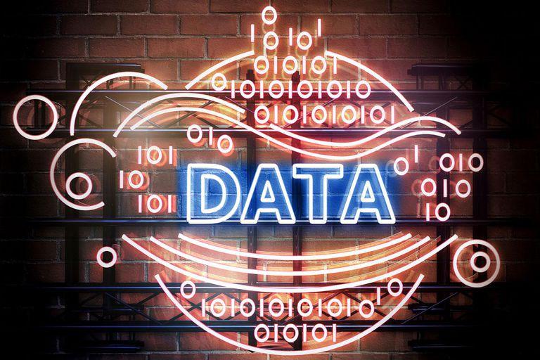 'Data' sign
