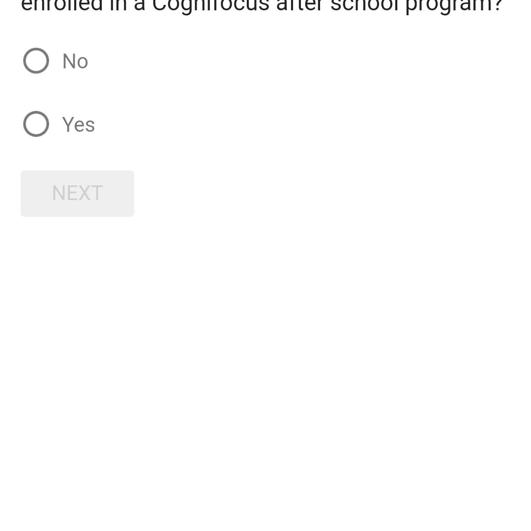 página de la encuesta de opinión de recompensas de Google en Android
