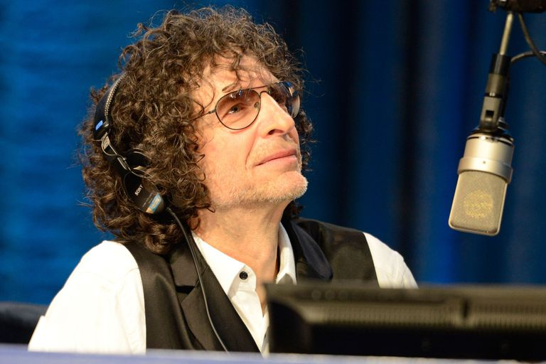 Howard Stern in a radio studio