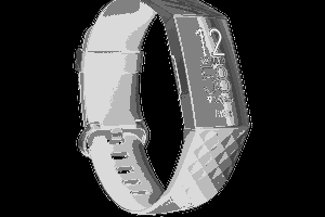 Fitbit Charge 4 black device