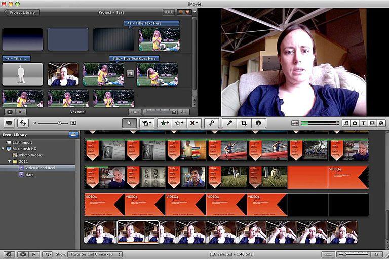 iMovie 11 screenshot