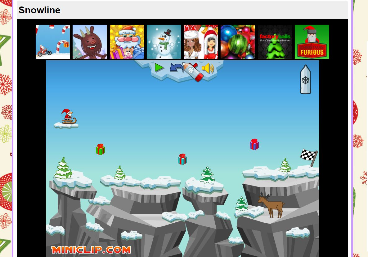 A screenshot of the game Snowline