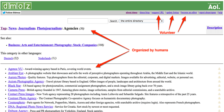 DMOZ - Open Directory Project screenshot