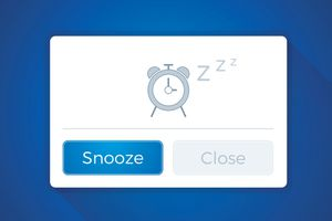 A virtual snooze button