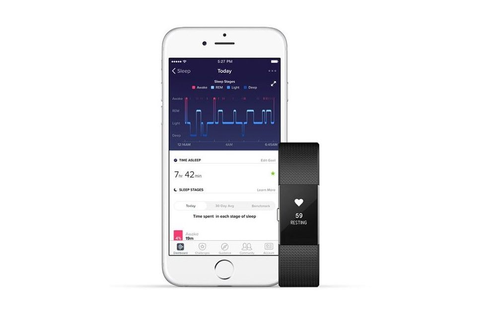 Fitbit Sleep Stages screen