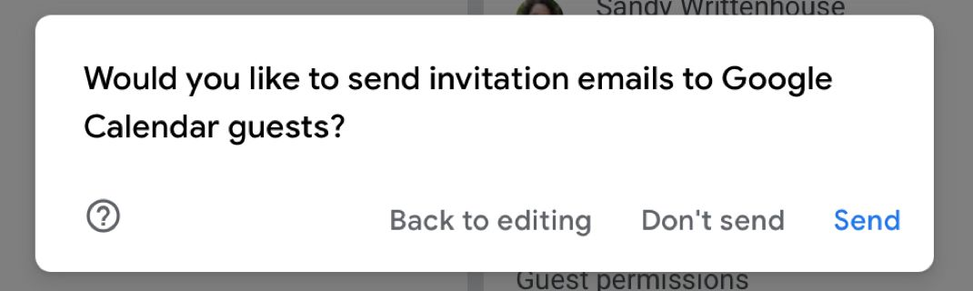 Send email invitations to your meeting