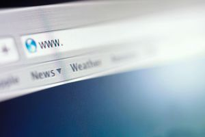 Close-up of a web browser search bar