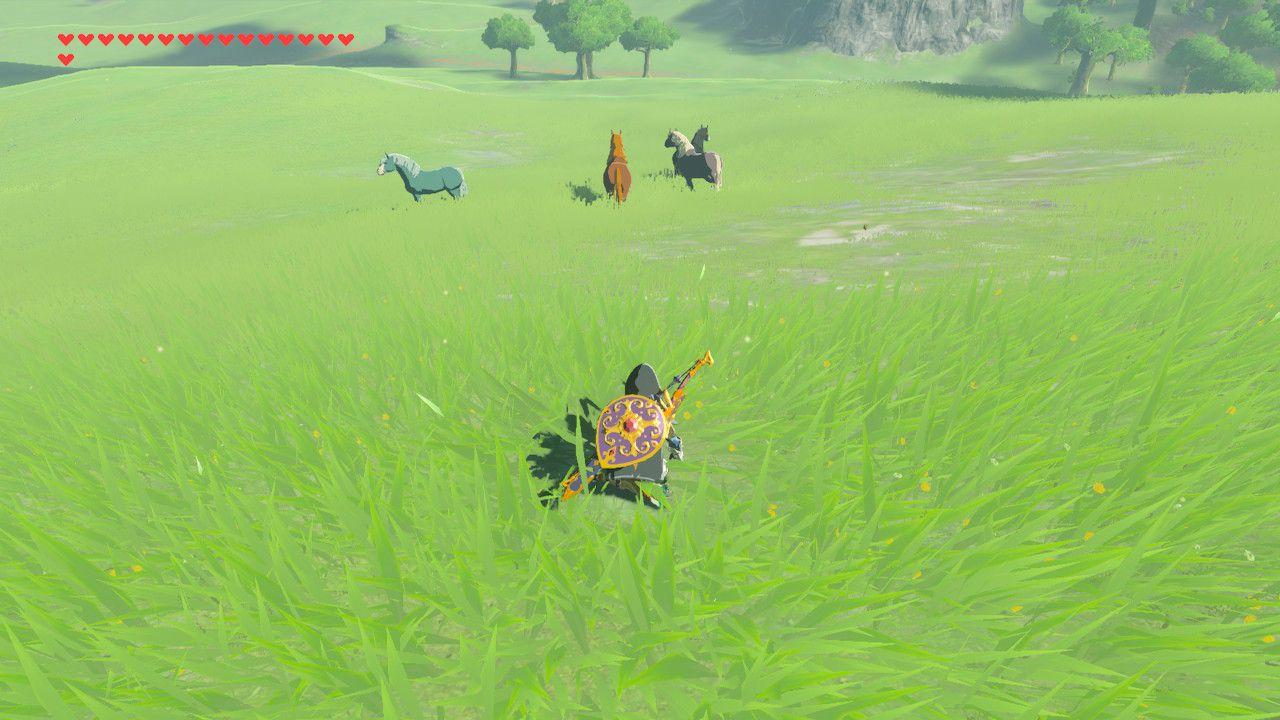 Sneaking up on horses in Zelda: Breath of the Wild