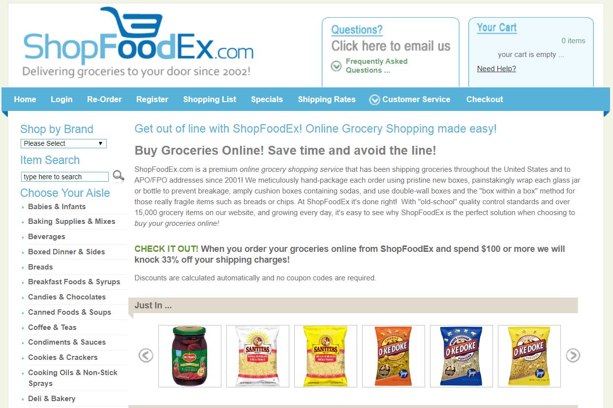 ShopFoodEx website