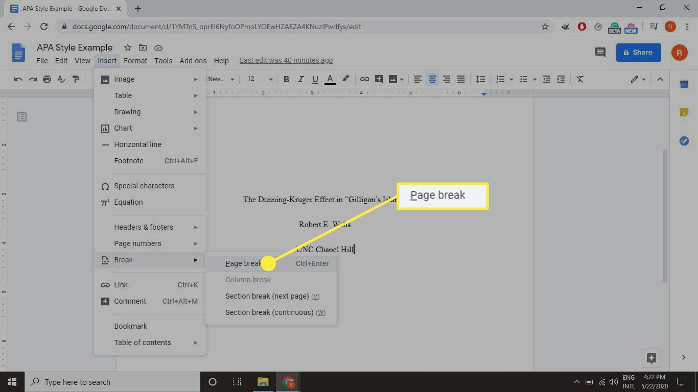 How To Use Apa Format In Google Docs Apa paper template google docs