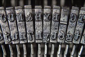 Close-Up of Typewriter Typebars