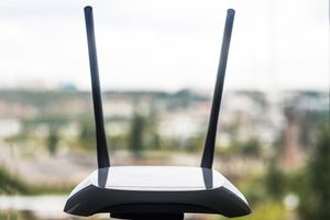 A Wireless Router By Window