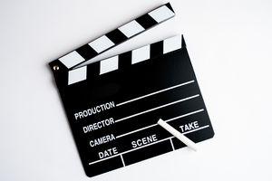 Filmmaker's clapboard