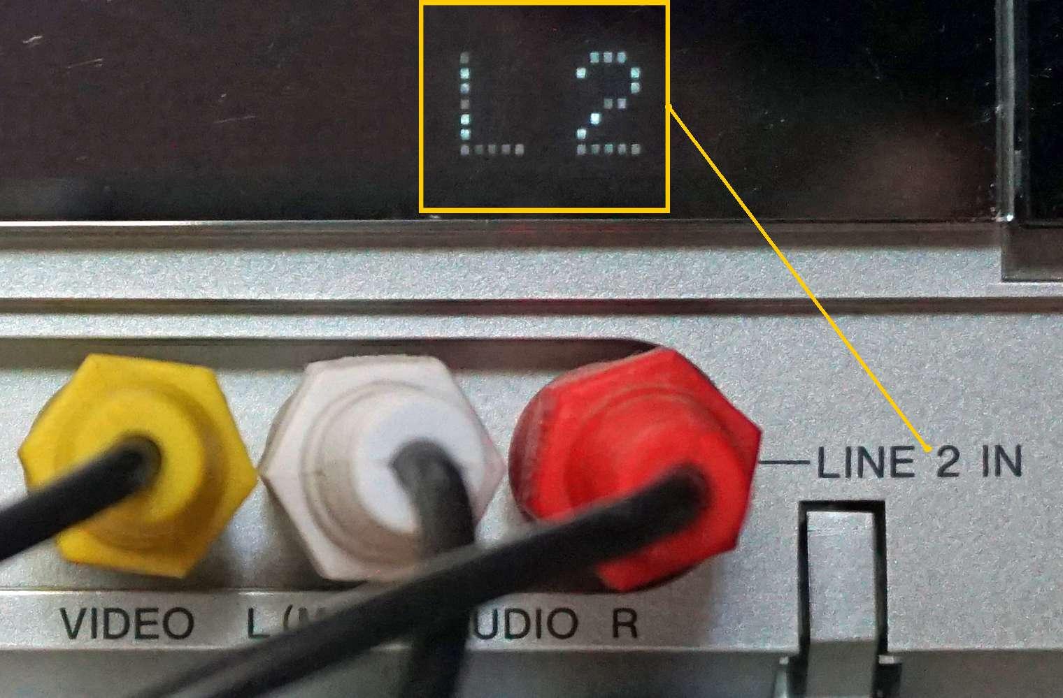 DVD Recorder AV Line Input Example