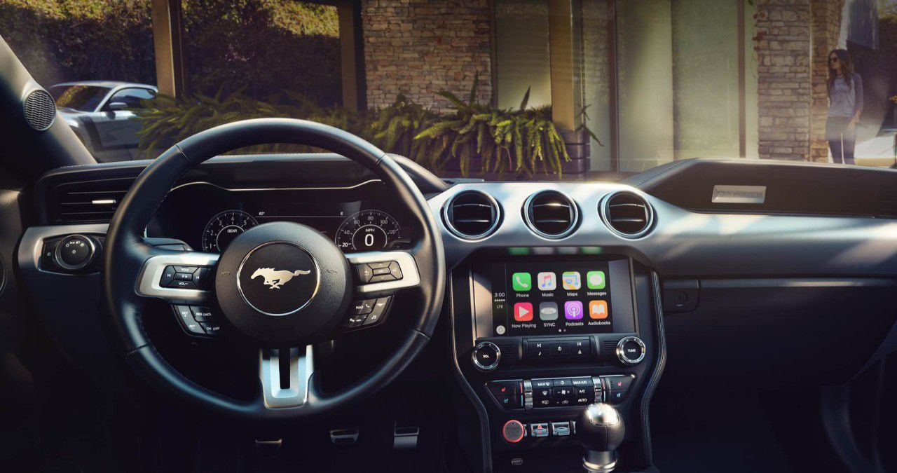 Ford Sync 3 in a Mustang.
