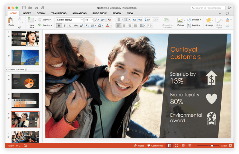 Screenshot of PowerPoint presentation with pictures