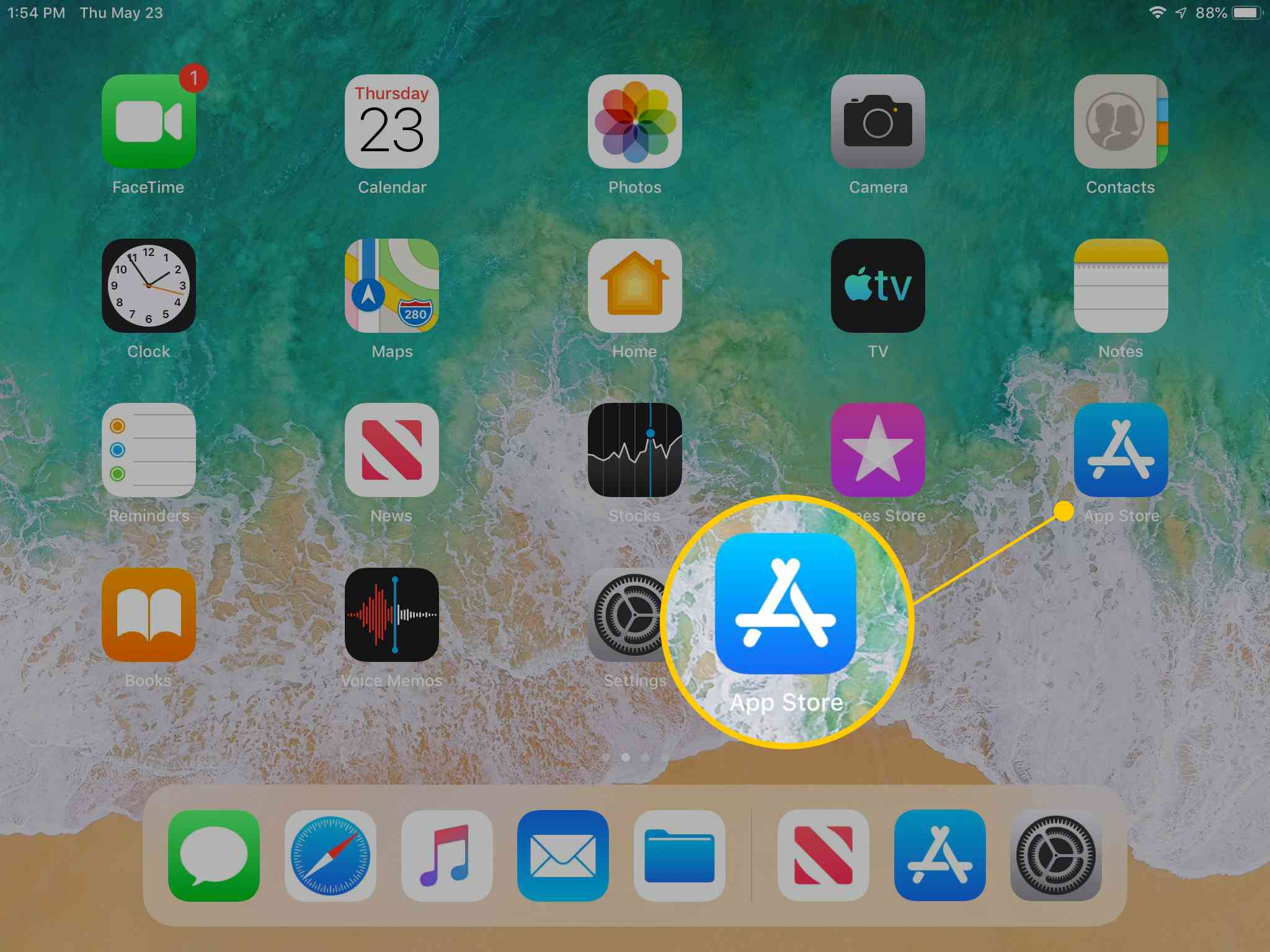 App Store icon on iPad Home Screen