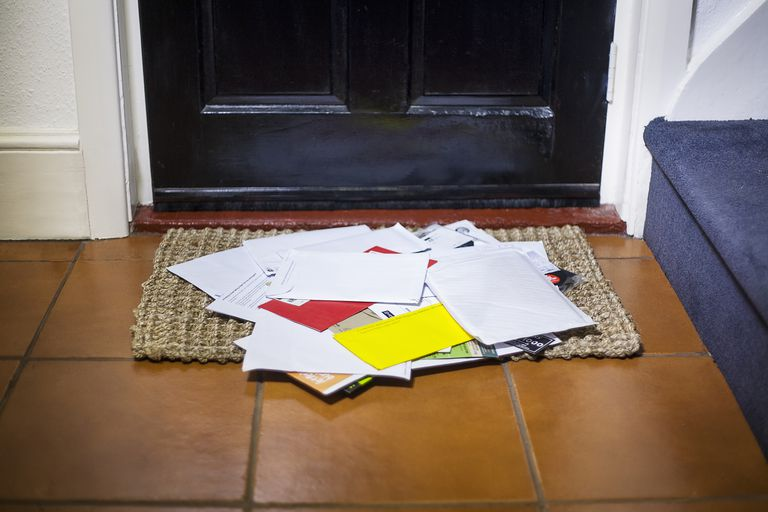 Mail on doorstep
