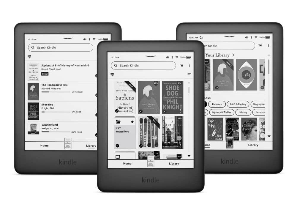 The new software on the Amazon Kindle.