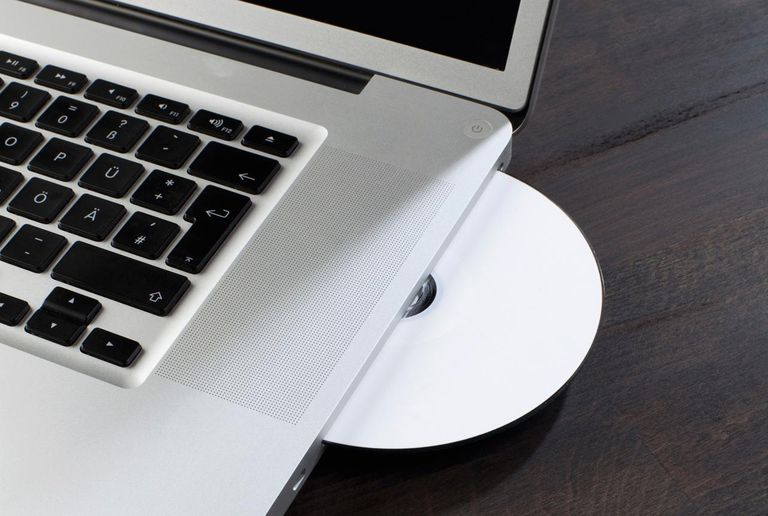 CD in a MacBook disk drive