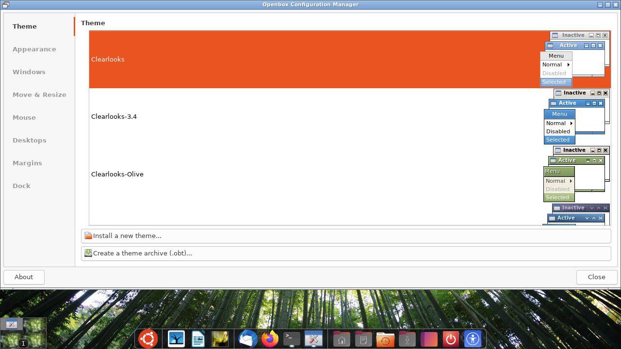 Ubuntu Openbox theme settings